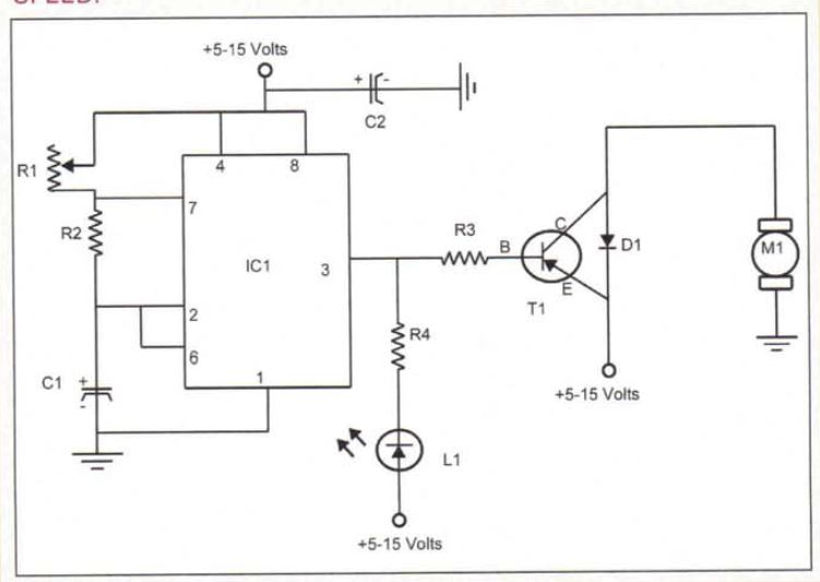 Small DC Motor Pwm Speed Controller schematic