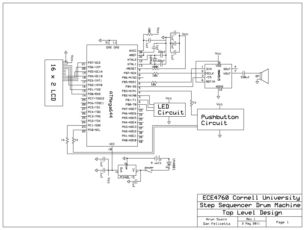Step Sequencer Drum Machine schematic