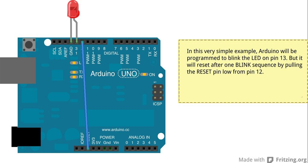 Two ways to reset arduino in software circuit