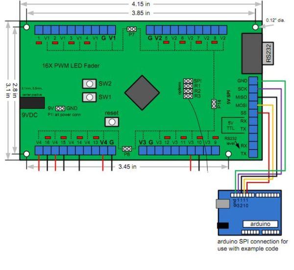 16X PWM LED Fader Board