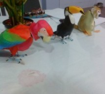 Animatronic Green-Winged Macaw Papercraft