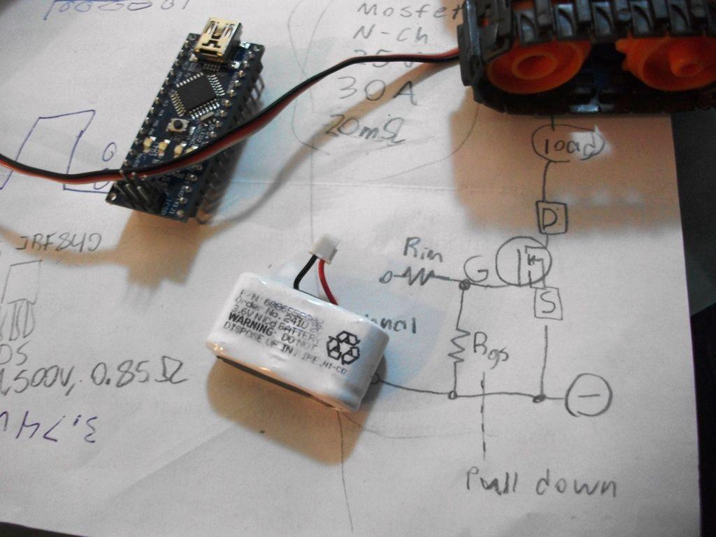 Arduino Nano based Microbot circuit