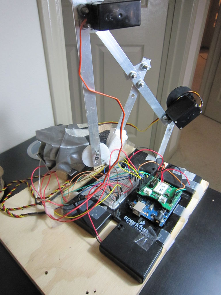 Bluetooth plus Infrared Controlled Robotic Arm