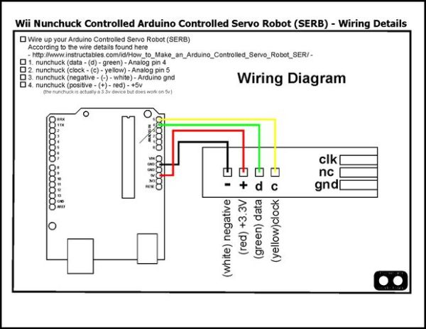 Control Your Robot Using A Wii Nunchuck  And An Arduino