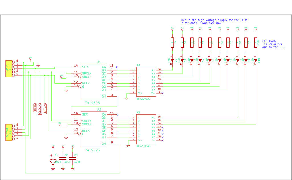 Giant LED bar graph schematic