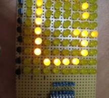 Make a 8×10 L.E.D Matrix using arduino