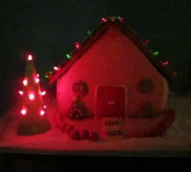 LED Gingerbread house using arduino