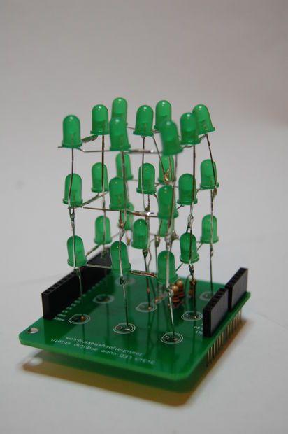 LED cube shield