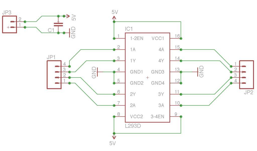 Maze Solving Robot schematic
