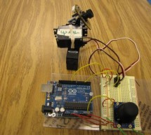Arduino + 2 Servos + Thumbstick (joystick) using arduino