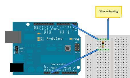 Turn a pencil drawing into a capacitive sensor for Arduino circuit