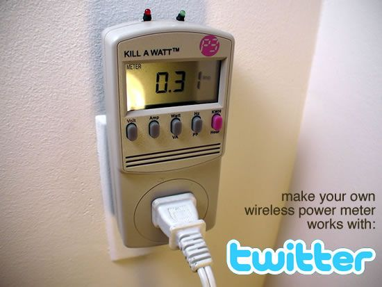 Tweet-a-watt - How to make a twittering power meter...
