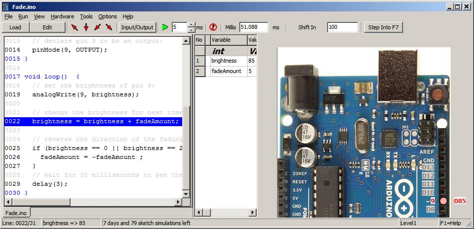 arduino simulator by virtronics