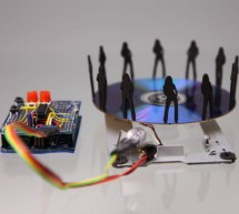 Stroboscope (zoetrope) using Arduino and a broken Xbox 360 DVD drive using arduino