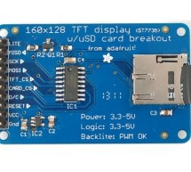 TFT Display with microSD breakout board using arduino