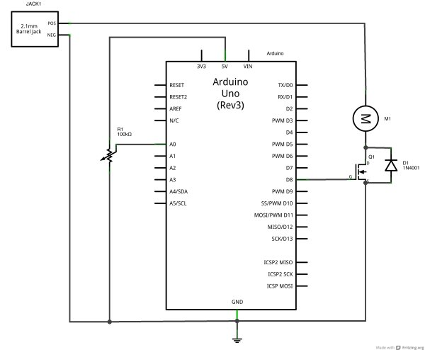 Using a transistor to control high current loads with an Arduino