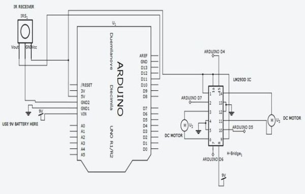 ARDUINO based IR remote control robot