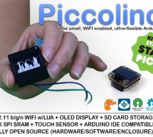 Piccolino: Arduino Compatible + WIFI + OLED + SRAM + SD CARD