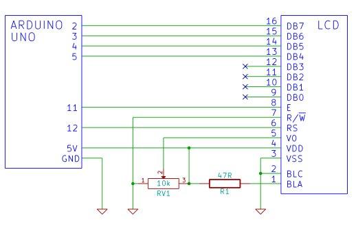 Arduino LCD Schemetic