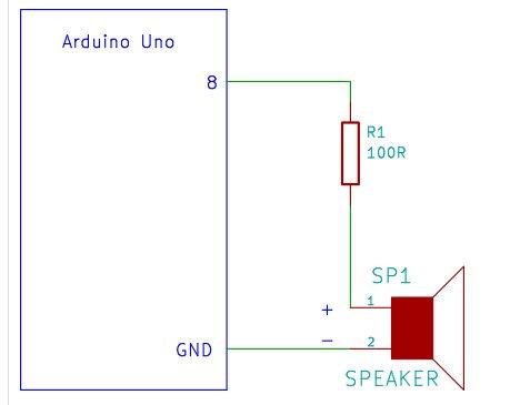 Arduino Melody schemetic