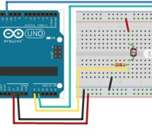 Electronic Circuit: photocell and LED
