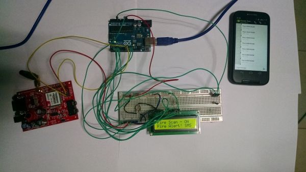 GSM based SMS Alert Fire Alarm System using Arduino