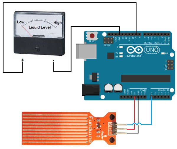 How to Build a Liquid Level Gauge Circuit with an Arduino Schemetic