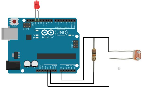 How to Build a Night Light Circuit Using an Arduino Schemetic