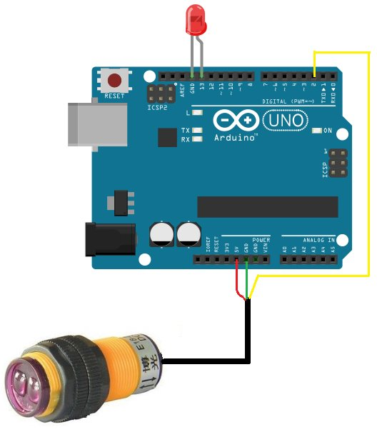 How to Build an Infrared Proximity Switch Circuit Using an Arduino schemetic