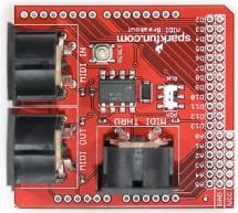 MIDI Breakout Shield