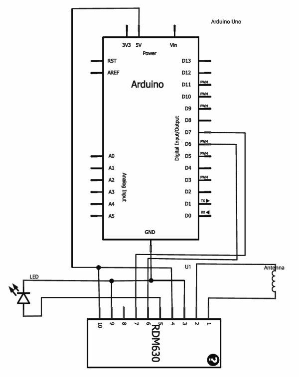 RFID with Arduino Schemetic