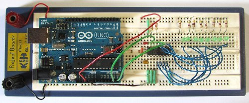 Two Wire Arduino Knight Rider