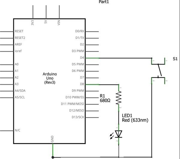 Using Push Button Switch with Arduino Uno