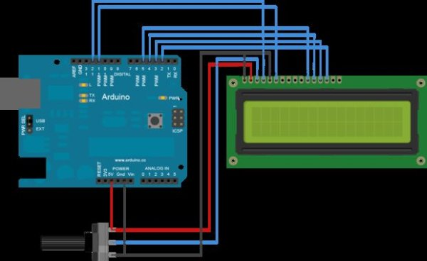 Arduino Fridge Magnet Schematic