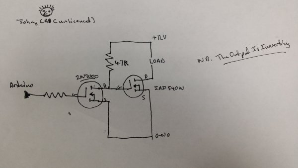 Arduino and Transistors Question  RE School Musical Production Schematic