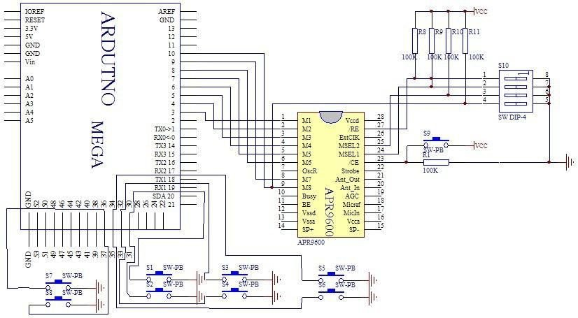APR9600 Voice Recording and Playback System with JRC286D Chip ICStation Mega 2560 Compatible Arduino Schematic