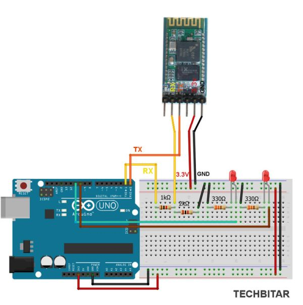 ArduDroid A Simple 2-Way Bluetooth-based Android Controller for Arduino Schematic