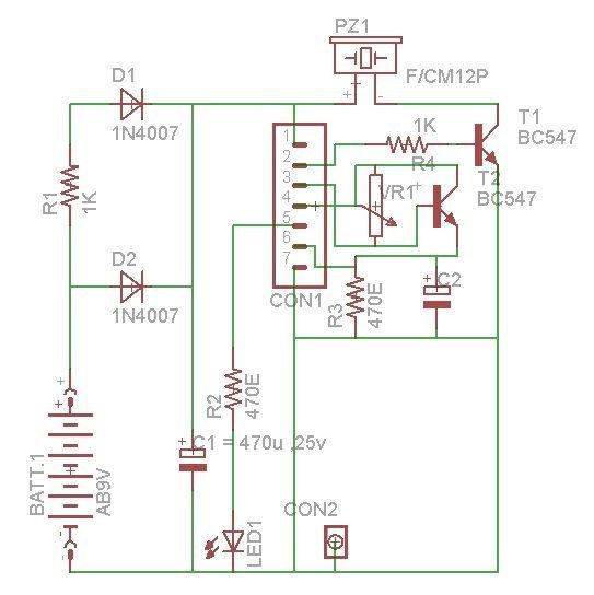 Arduino-Based Shadow Alarm Schematic