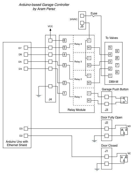 Arduino Garage Controller Schematic
