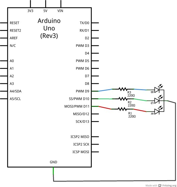 Arduino LEDs Schematic