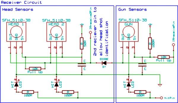 Arduino Laser Tag - Duino Tag Schematic