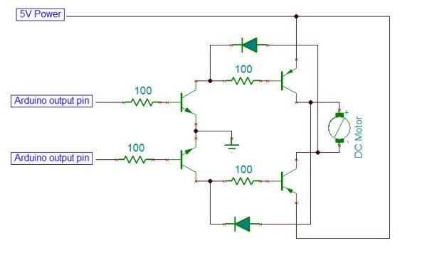 Arduino MicroBot Project Schematic