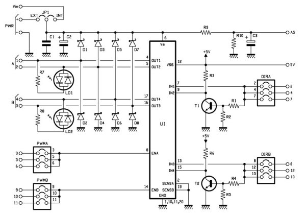 Arduino Motor Shield Schematic