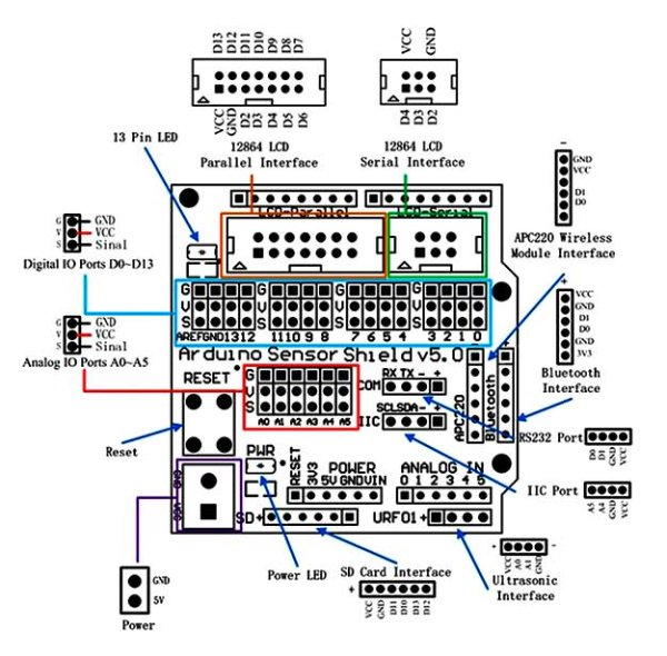 Arduino Project 8 Stompy the robot (part 1) Schematic