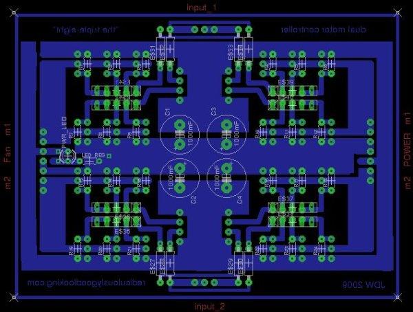 Arduino RC Lawnmower painted Schematic
