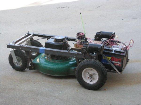 Arduino RC Lawnmower painted