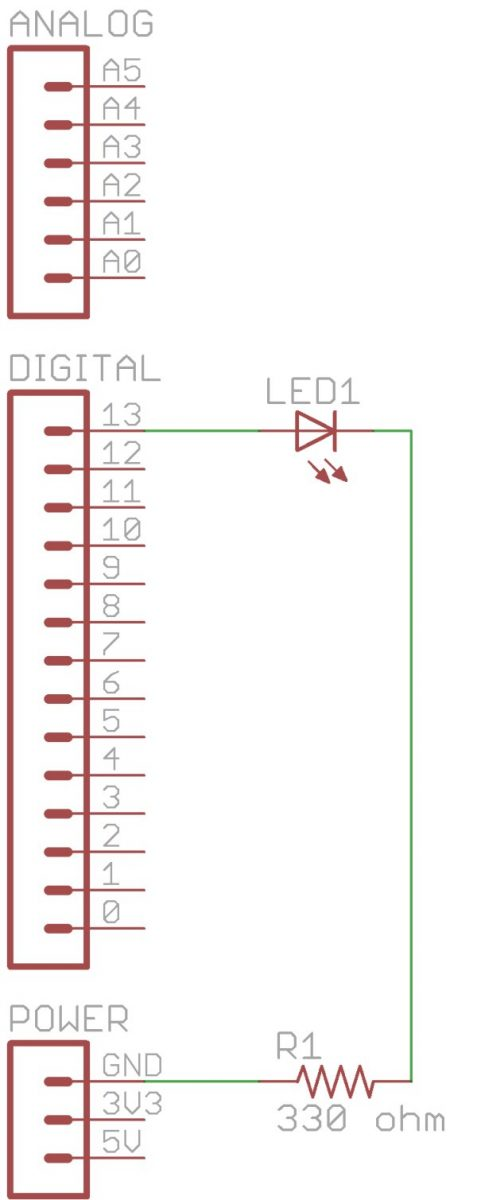 Arduino Tutorial Chapter 2 3 Schematic and Breadboard Diagrams Schematic