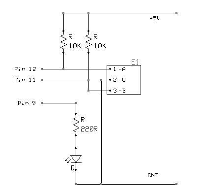 Arduino UNO Tutorial 6 - Rotary Encoder Schematic