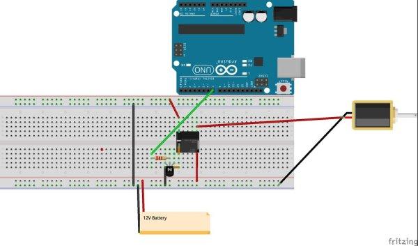 Automatic Garden Watering Device - Arduino Schematic