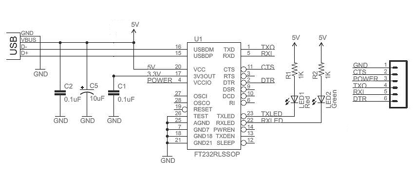 Bootload an ATmega Microcontroller & Build Your Own Arduino – 2 Schematic